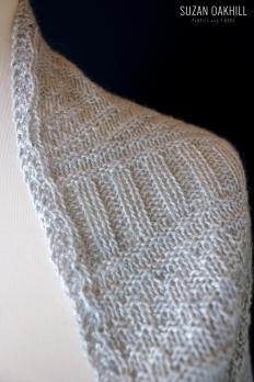 Guernsey Wrap - Detail of shoulder
