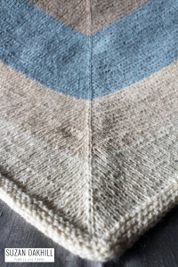 Nordic Wind Shawl cabinfour owl quince knitting triangle